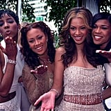 Beyonce Knowles attended the 2000 Grammys with her Destiny's Child bandmates Kelly Rowland, LaTavia Roberson and Michelle Williams.