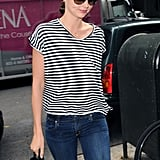 Miranda Kerr flashed a hint of a smile.
