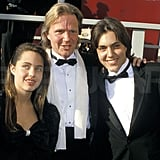Angelina Jolie, Jon Voight, and James Haven hit the red carpet in LA together in 1988.