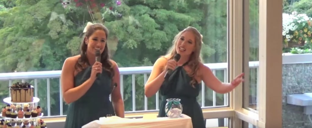 Are These Sisters Secretly Disney Princesess? Their Wedding Toast Mashup Is Amazing!