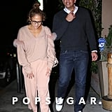 Jennifer Lopez Pink Furry Sweater by Sally LaPointe