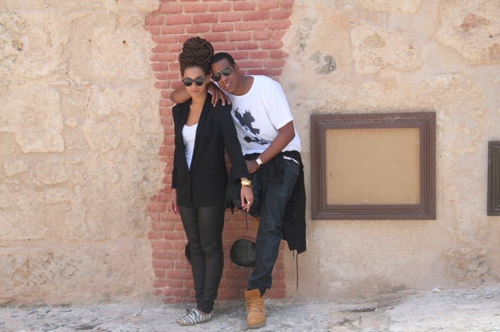Beyoncé and Jay-Z may have taken their controversial trip to Cuba more than a month ago, but she recently released new — and totally adorable — images of their anniversary getaway on Tumblr. Beyoncé and Jay-Z cuddled up in a few of the snaps, while Beyoncé went solo in others.  Since they wrapped up their getaway in April, it's been all about business for Beyoncé. Her bikini ads for H&M were released, she kicked off her Mrs. Carter Show world tour, promoted her voice role in Epic, and walked the red carpet at the Met Gala. While the tour continues, Beyoncé is now facing pregnancy rumors after she canceled a performance in Belgium earlier this week. She returned to the stage on Wednesday and is expected to perform in Zurich tonight. Regardless of the speculation about baby number two, one thing is for sure — these pics of her and Jay-Z are too cute, so click through to see them all!