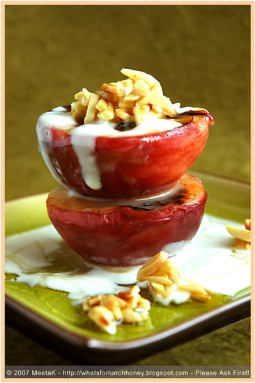 Yummy Link: Grilled Peaches with Eucalyptus Honey Yogurt