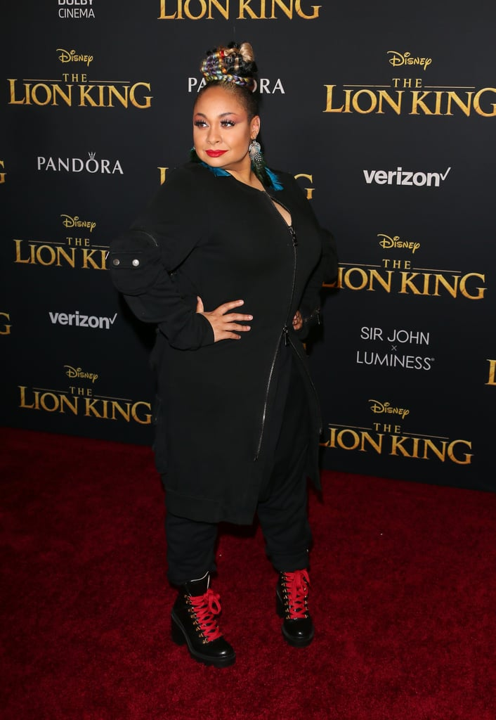 Pictured: Raven-Symone at The Lion King premiere in Hollywood.