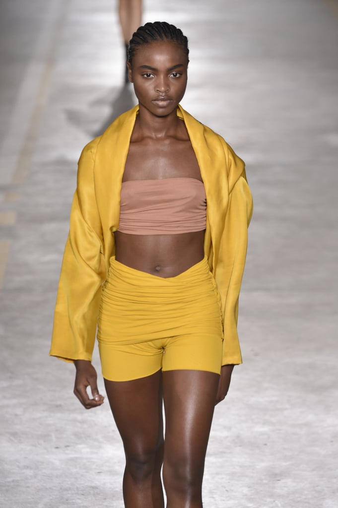 During the Show, the Model Wore the Jacket-Style Top Untied