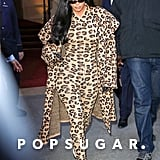 Kim K Took Wearing Head-to-Toe Leopard Print to New Heights