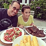 Jerry and Sascha Seinfeld enjoyed a home-cooked meal. Source: Instagram user jessseinfeld