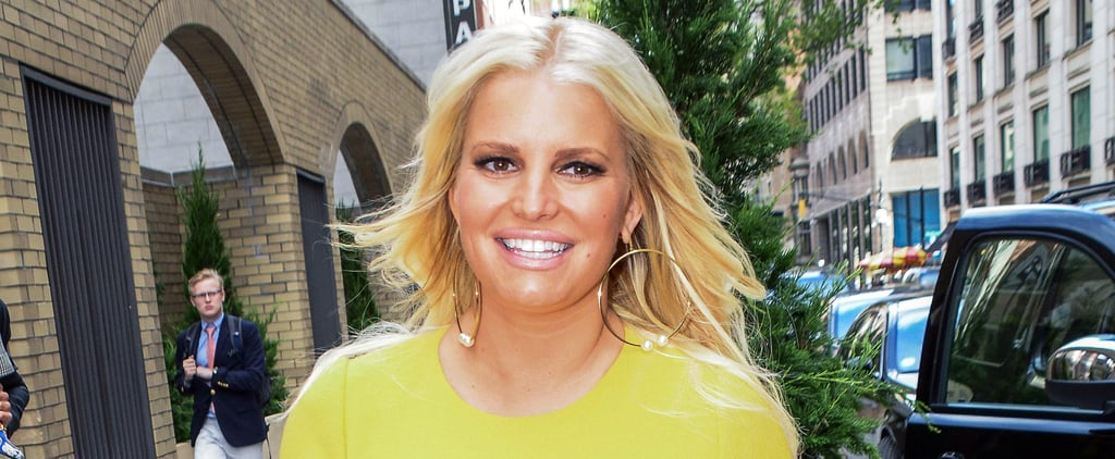Video of Jessica Simpson's Son Jumping Into Pool With Cast