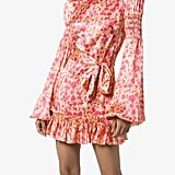 The Vampire's Wife Whole Lotta Frilled Shirred Floral-Print Mini Dress