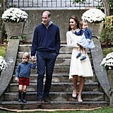 Kate wore a Victorian-inspired See by Chloé dress for a children's party alongside her family.