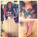 Tutus aren't just for Carrie Bradshaw — try one out with a statement necklace to make an impactful look this Winter!