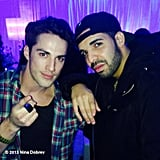 The Vampire Diaries star Michael Trevino linked up with Drake at the afterparty for his concert. Source: Instagram user ninadobrev