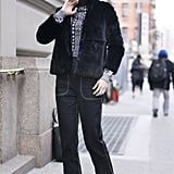 With a Black Coat and Oxford Shoes