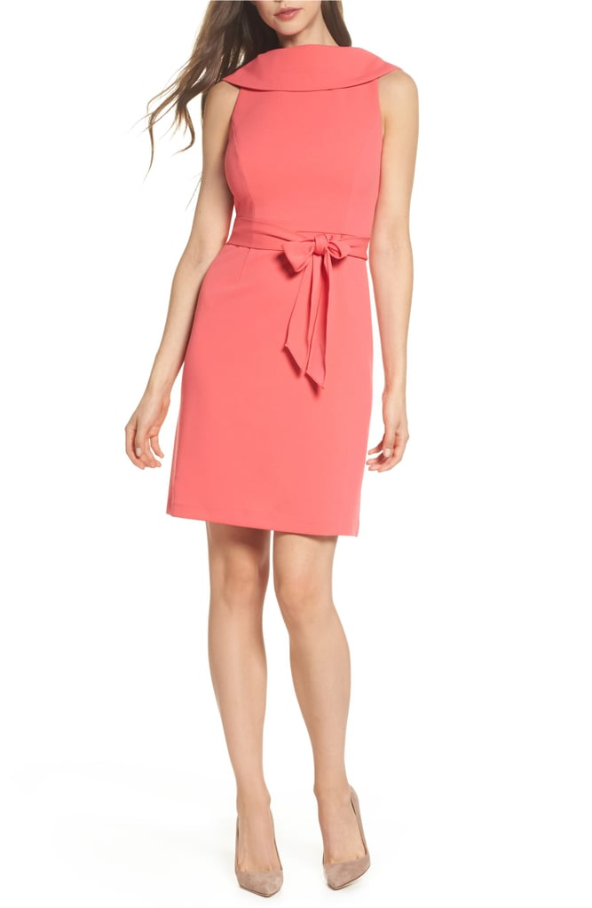 Adrianna Papell Roll Neck Crepe Dress