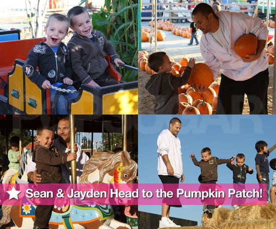 Photos of Sean Preston Federline, Jayden James Federline, and Kevin Federline at a Pumpkin Patch in LA