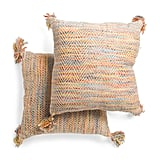 Made in India 2-Pack Multi Textured Pillows