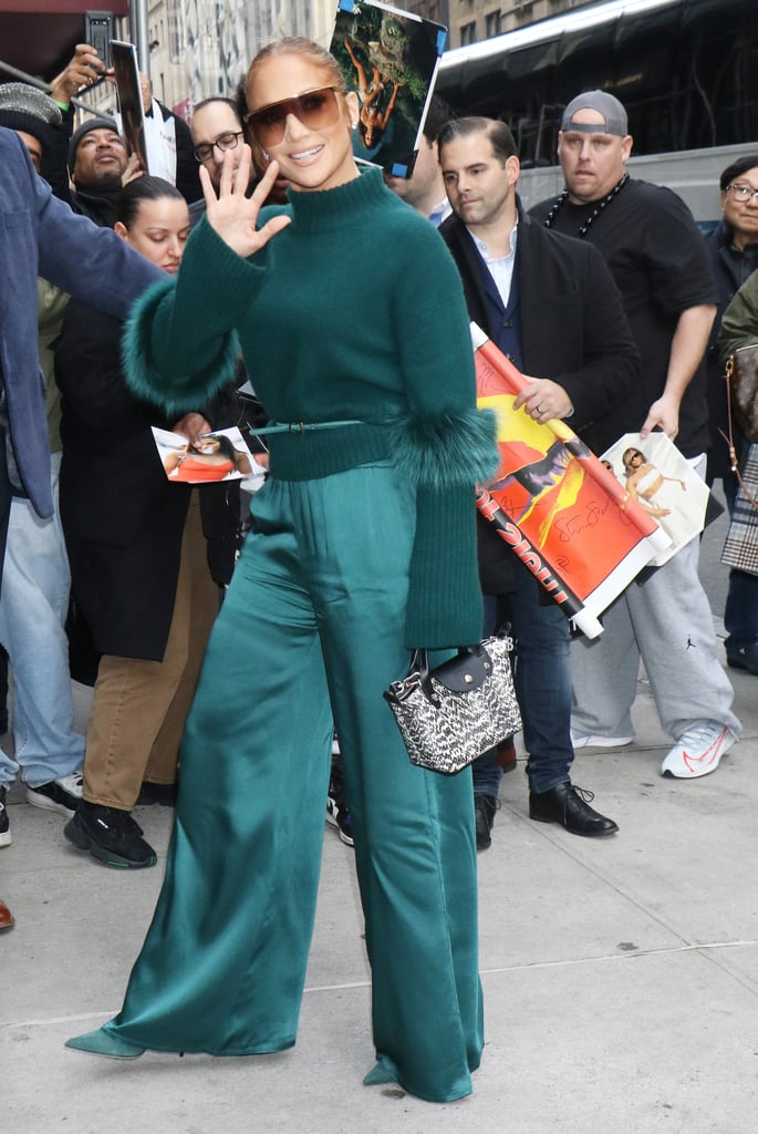Jennifer Lopez's Green Sally LaPointe Outfit in NYC