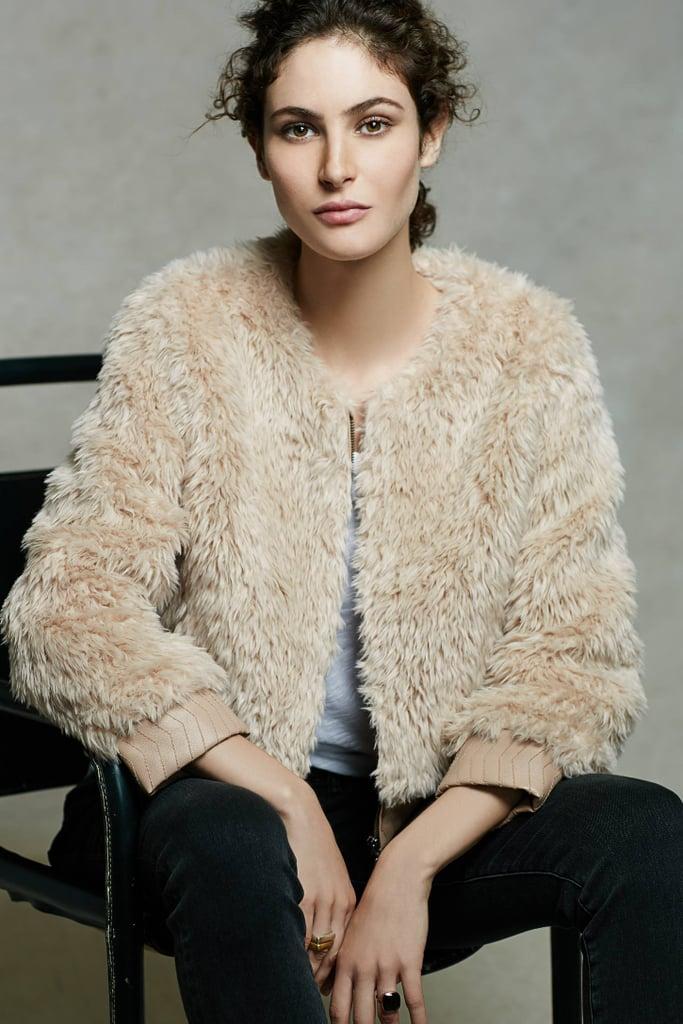 Elevenses Blushed Faux-Fur Jacket ($178)