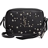 Saint Laurent Medium Lou Star Studded Calfskin Leather Camera Bag
