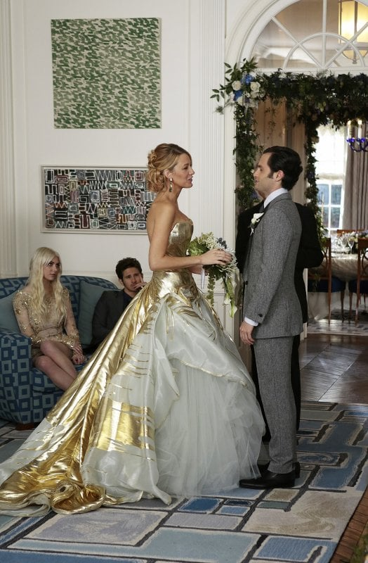 Blake Lively Wedding Dress.Blake Lively Tried On Her Character S Wedding Dress The Day After