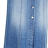7 For All Mankind Long Button-Front Denim Skirt
