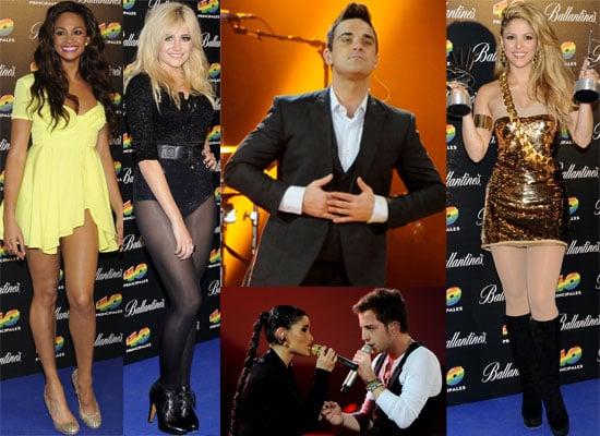 Photos from 40 Principales 2009 Including Robbie Williams, Shakira, Alesha Dixon, Pixie Lott, James Morrison,