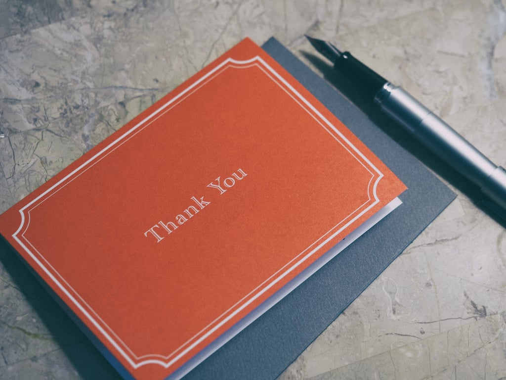 Stocking Up on Thank You Cards and Stamps