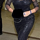 Beyonce Knowles in a Monique Lhuillier dress.