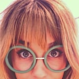 Lauren Conrad showed off some silly glasses (and her new bangs). Source: Instagram user nicolerichie