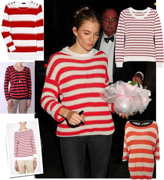 Get a Red Striped Jumper Like Sienna Miller