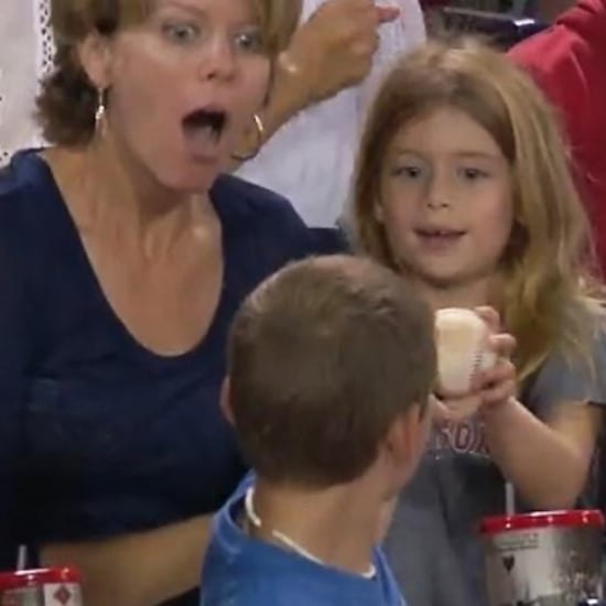 Boy Catches Baseball Foul Ball and Gives It to Girl | Video