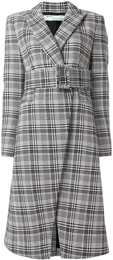 Off-White Belted Check Coat