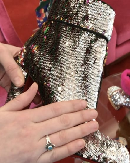 Silver-Sequined Unicorn Skin Louboutins