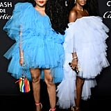 TK and Cipriana Quann at the Harper's Bazaar ICONS Party During New York Fashion Week