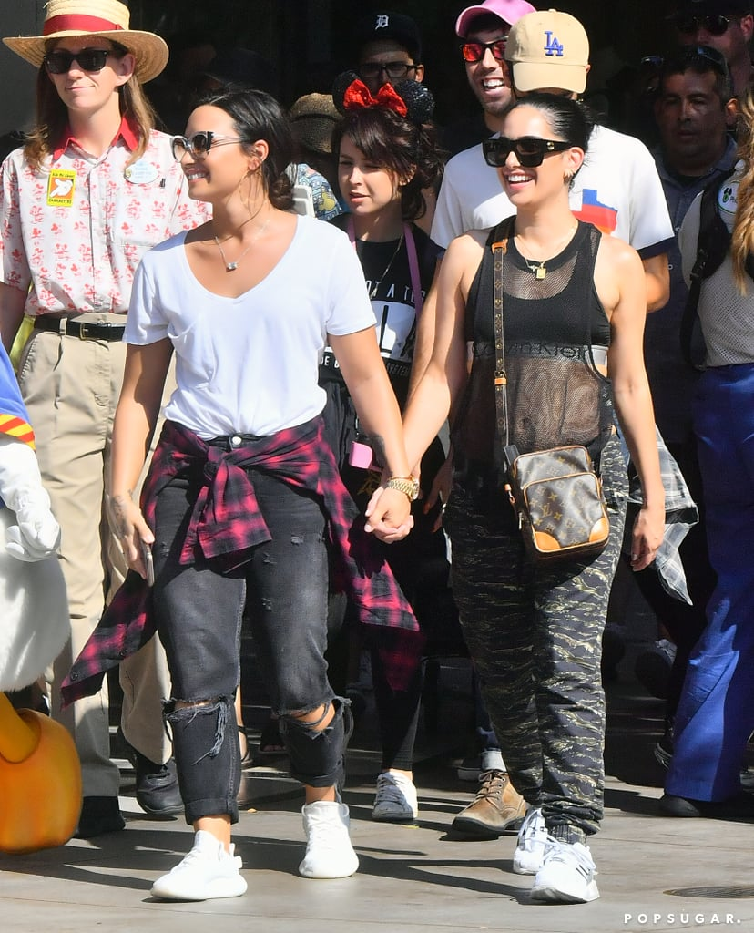 Demi Lovato Holds Hands With Lauren Abedini At Disneyland Popsugar Celebrity