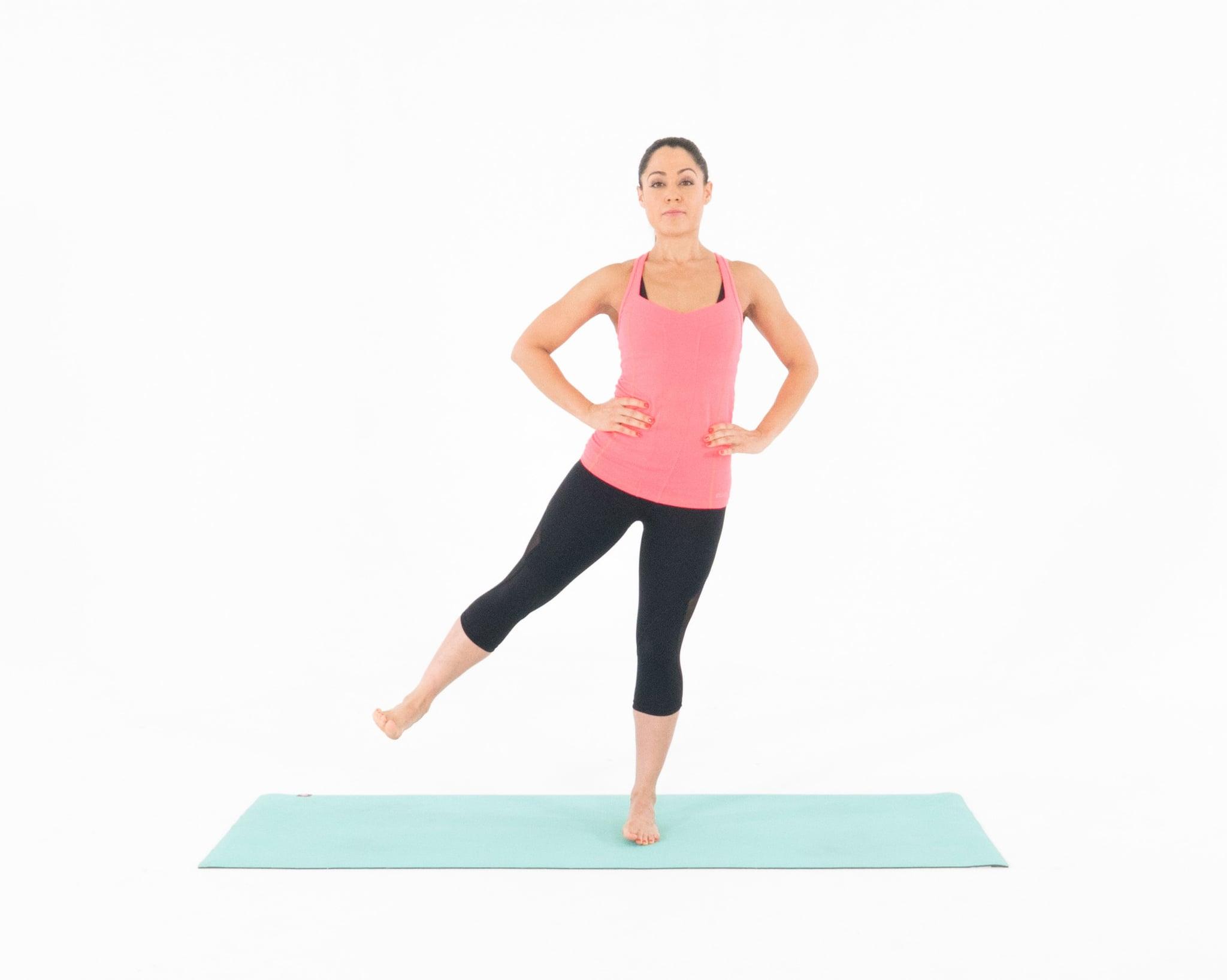 Oblique with leg crunches raise standing Dumbbell Oblique