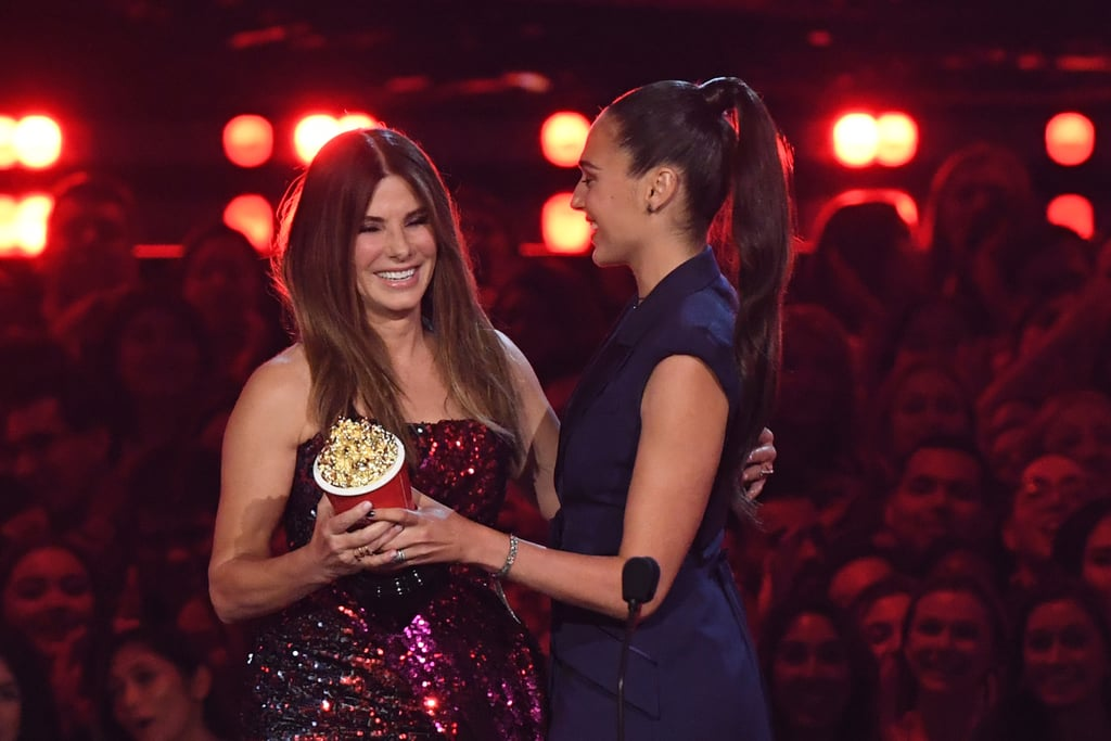 Sandra Bullock's Sequin Top at the MTV Movie and TV Awards