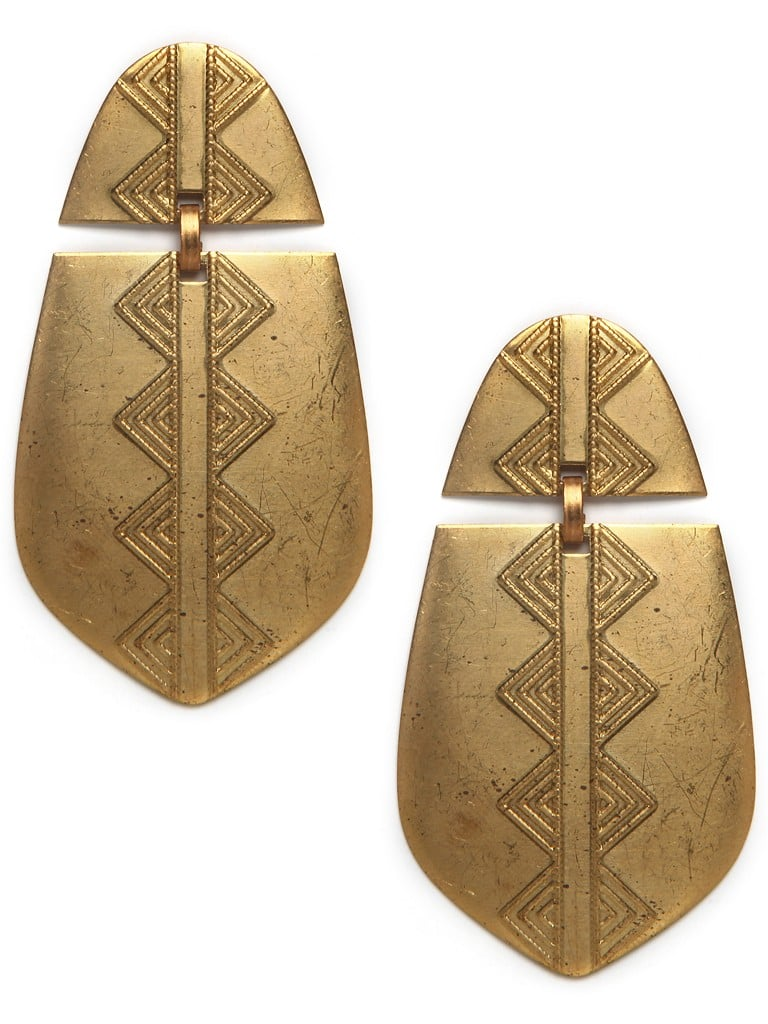 Gold Armor Earrings ($42)