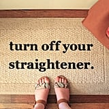 For the Girl Who's Almost Burned the House Down: Decorative Door Mat