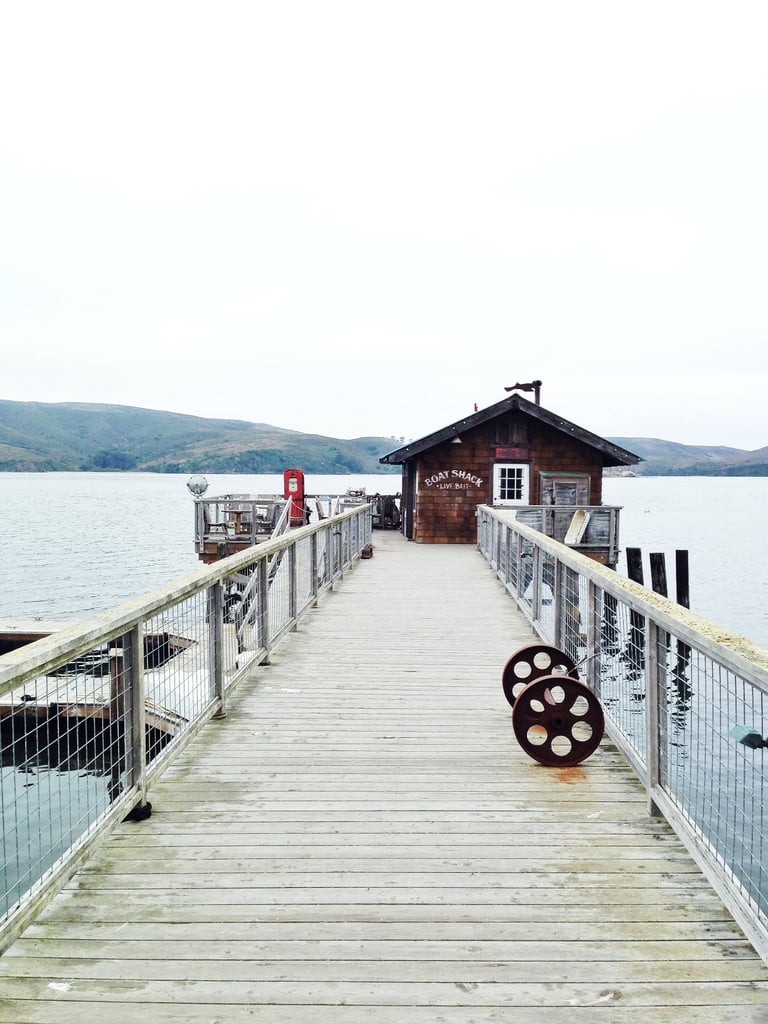 Walk down to the end of this pier at Nick's Cove and you'll find THE spot for pre-dinner drinks, complete with a piano inside.