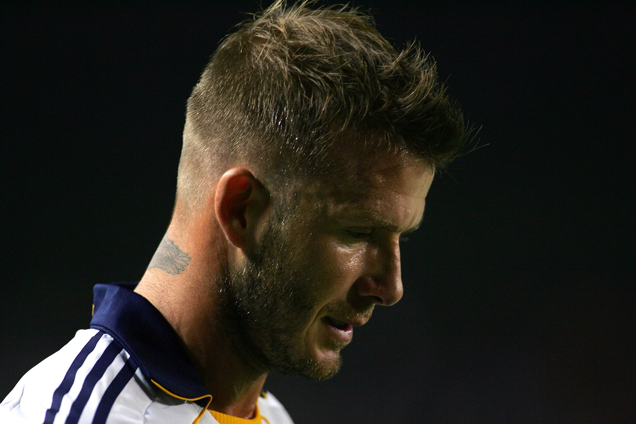 Photos of david beckham playing for la galaxy against for Seattle sounders tattoo