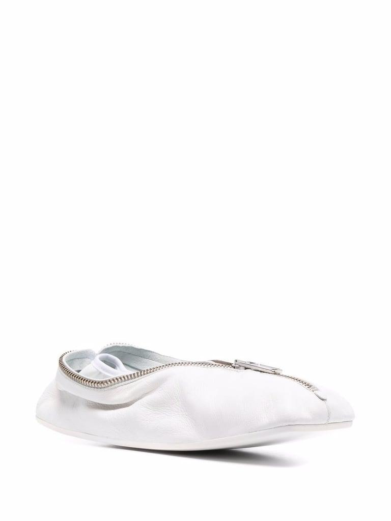 MM6 Maison Margiela Leather Ballet Flat