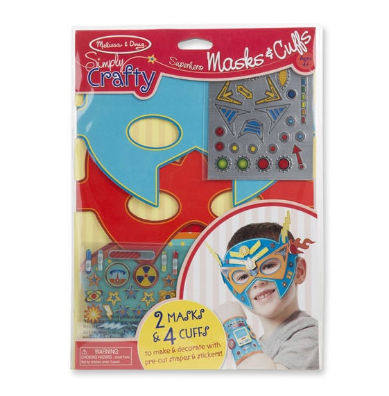 For 4-Year-Olds: Superhero Masks and Cuffs