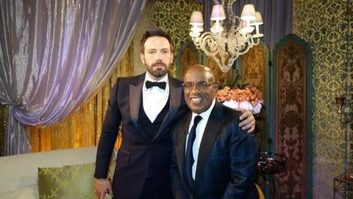 Al Roker interviewed Ben Affleck backstage. Source: Twitter user alroker