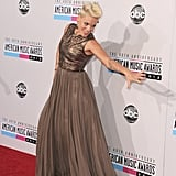 Pink attended the American Music Awards.
