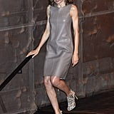 A Taupe Leather Dress
