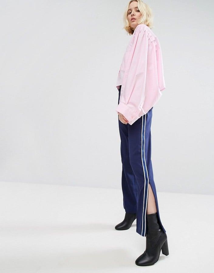 Stylenanda Wide-Leg Track Pants
