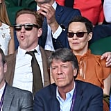 Damian Lewis and Helen McCrory at Day 11 of Wimbledon
