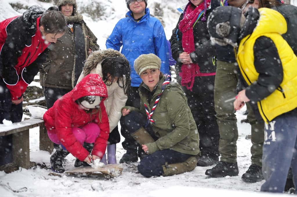 Kate Middleton Cracks Up by a Campfire With Cub Scouts