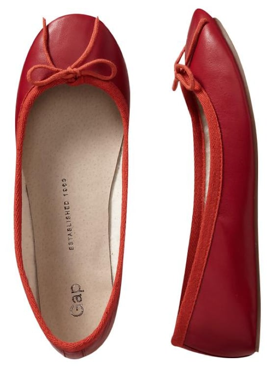 For a quick and easy work style fix, inject color into your Summer flats arsenal. This beautiful red hue is sleek and eye-catching. Gap Leather Ballet Flats in Lasalle Red ($40)